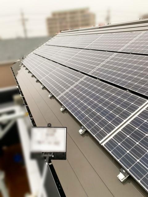 愛知県海部郡のH様邸にて、太陽光発電システムを設置しました≪施工後≫