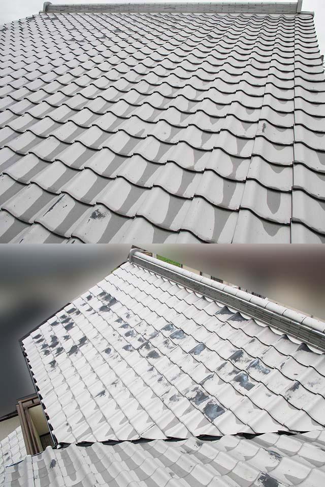 佐賀県唐津市のT様邸にて長州産業の太陽光発電システム設置工事しました。施工前の屋根の写真です。