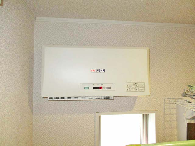 福岡県久留米市のT様邸にて長州産業の太陽光発電システムの設置工事をしました。パワーコンディショナです。