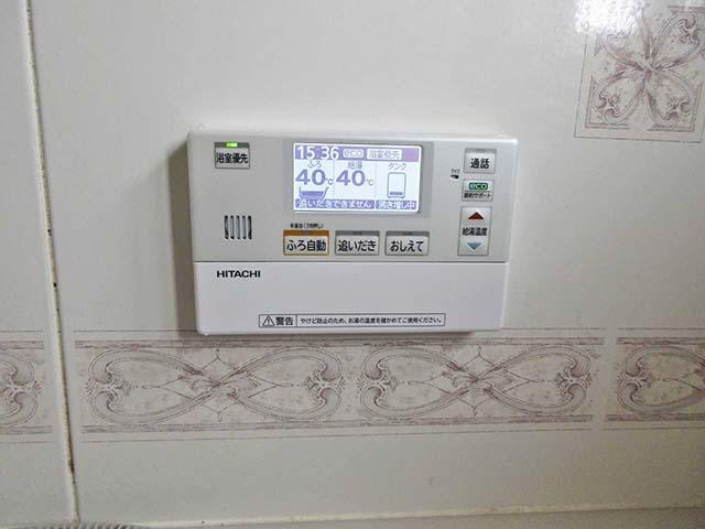 佐賀県鹿島市のT様邸で日立のエコキュートの設置工事しました。ふろリモコンです。