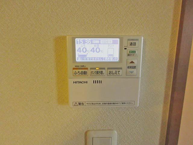 佐賀県鹿島市のT様邸で日立のエコキュートの設置工事しました。台所リモコンです。
