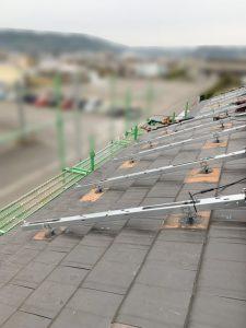 宮崎県宮崎市のH様邸にて、太陽光発電システムを設置しました≪架台≫