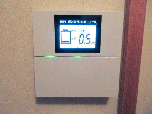山口県下関市のI様邸にて、蓄電システムを設置しました≪リモートコントローラ≫