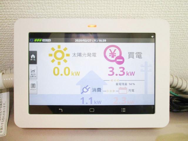 山口県下関市のS様邸にて、太陽光発電システムを設置しました≪カラーモニター≫