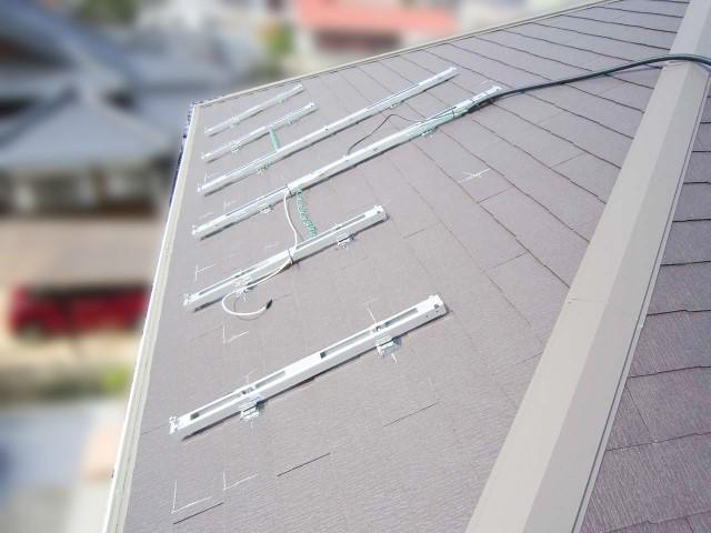 山口県下関市のS様邸にて、太陽光発電システムを設置しました≪架台≫