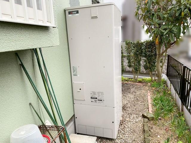 福岡県筑紫野市のK様邸にて、エコキュート設置しました≪貯湯ユニット≫
