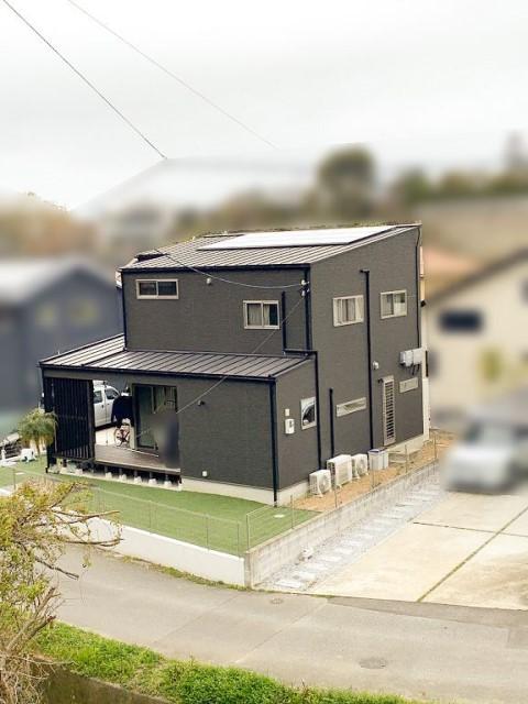 福岡県糟屋郡のE様邸にて、太陽光発電システムを設置しました≪お家≫