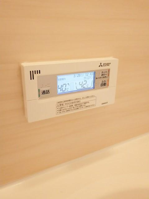 佐賀県神埼郡のK様邸にて、エコキュート設置しました≪浴室リモコン≫