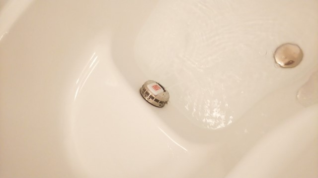 佐賀県神埼郡のK様邸にて、エコキュート設置しました≪浴槽内≫