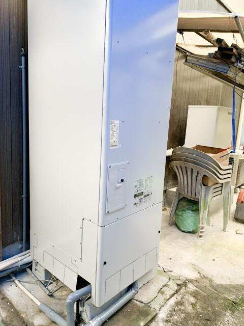 福岡県田川郡のT様邸にて、エコキュート設置しました≪貯湯ユニット≫