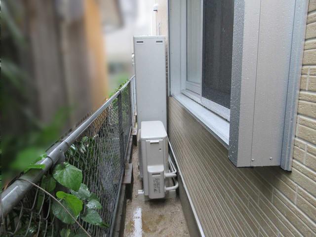 福岡県北九州市のT様邸にて、日立のエコキュート(370L)を設置させて頂きました。《施工後》