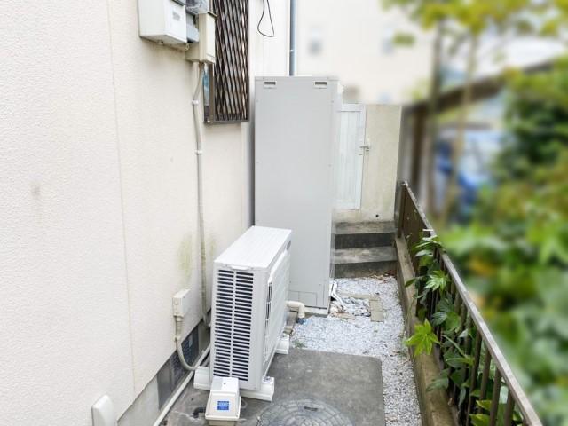 福岡県田川市のG様邸にて、エコキュートを設置しました≪施工後≫