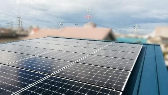 岡山県岡山市のF様邸にて、太陽光発電システムを設置しました≪施工後≫