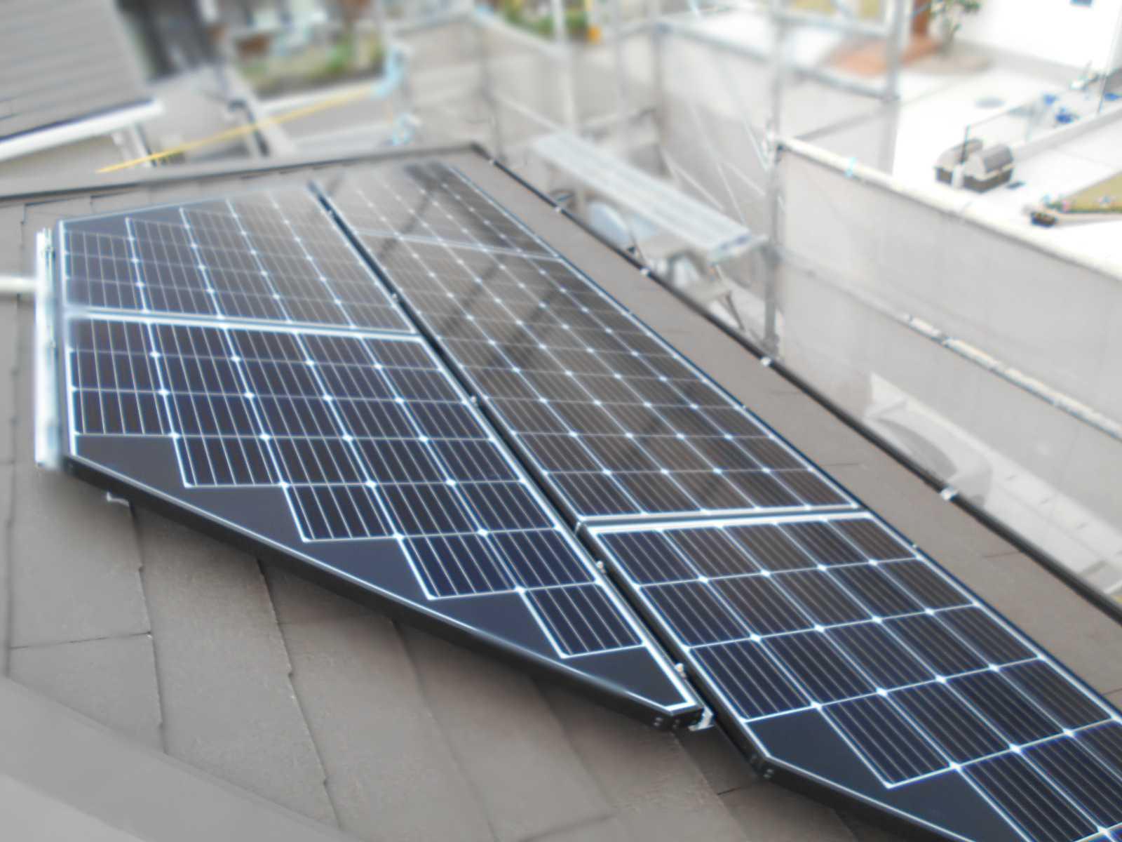 福岡県飯塚市K様邸にて、太陽光発電システムを設置しました!