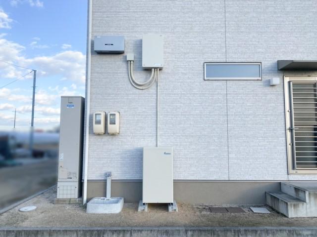 岡山県岡山市のT様邸にて、蓄電システムを設置しました≪屋外外観≫