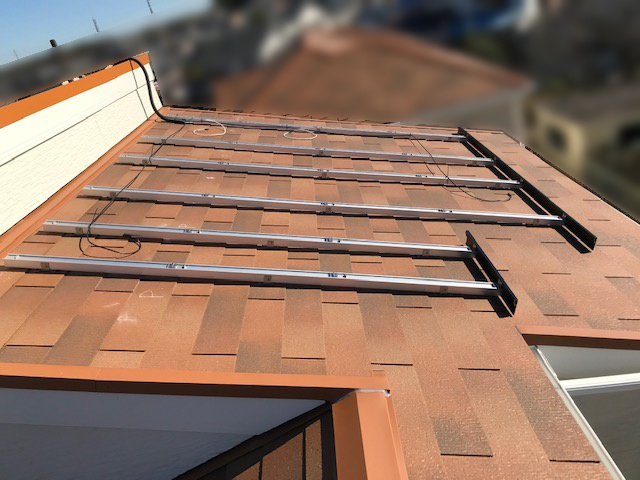 三重県四日市市のU様邸にて、太陽光発電システムを設置しました≪架台≫