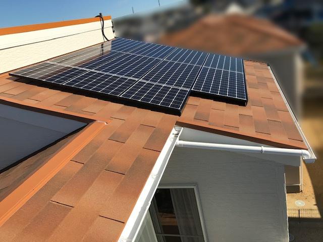 三重県四日市市のU様邸にて、太陽光発電システムを設置しました≪施工後≫