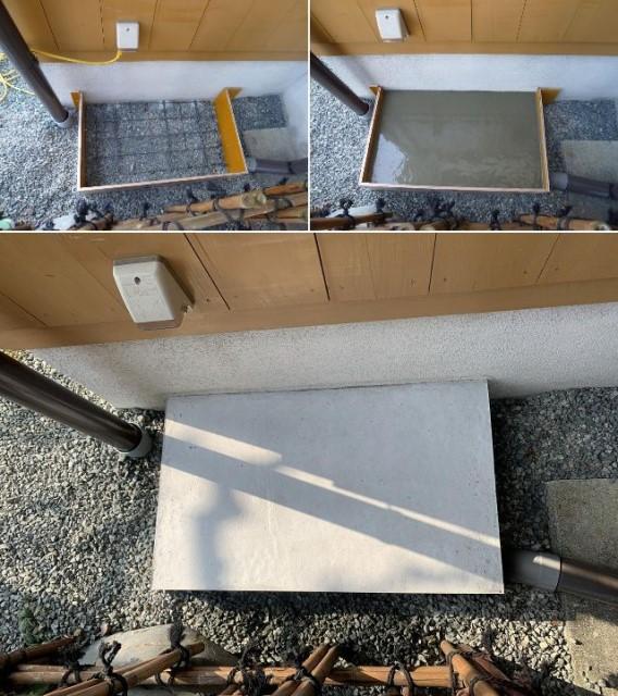 福岡県柳川市のS様邸にて、蓄電システムを設置しました≪施工中≫基礎