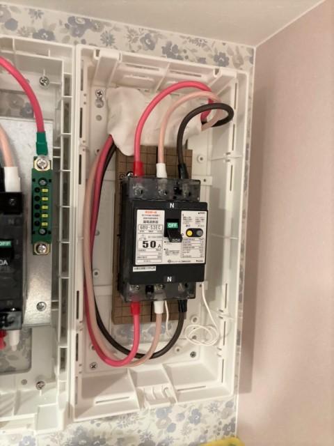 山口県のN様邸にて、蓄電システムを設置しました≪分電盤≫