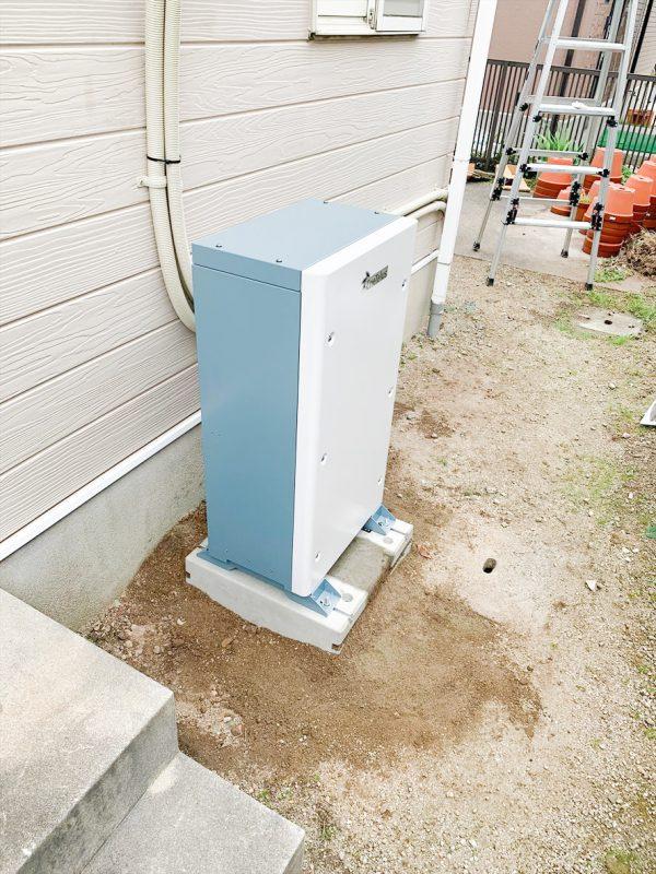 鳥取県のI様邸にて、蓄電システムを設置しました。≪蓄電池≫