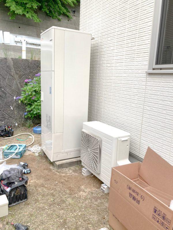 山口県のH様邸にて、エコキュートを設置しました!≪本体≫